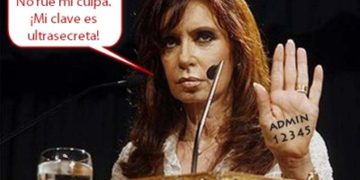 Hacker robó clave fiscal de la presidenta de Argentina