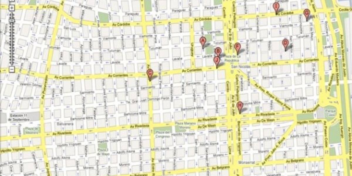 Google maps: Por fin en Argentina