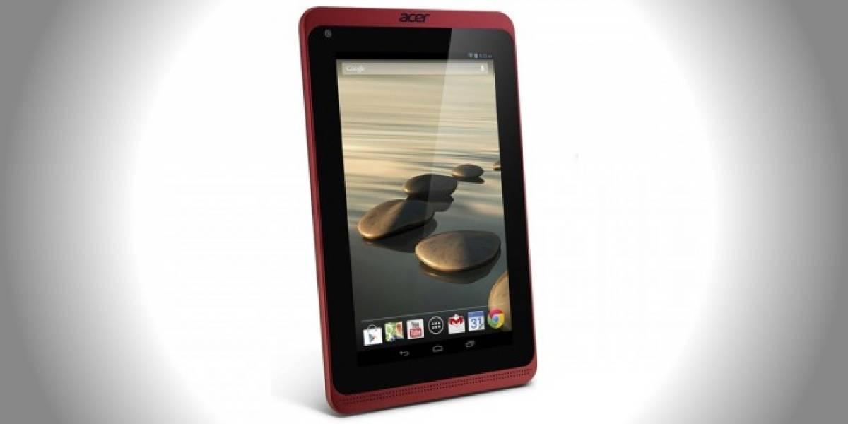 Acer presenta la tercera generación de su tablet Iconia B1