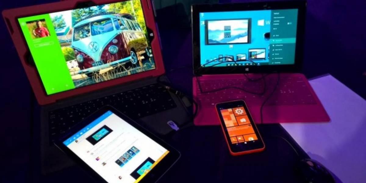 Asi luciría la pantalla de inicio de teléfonos con Windows 10