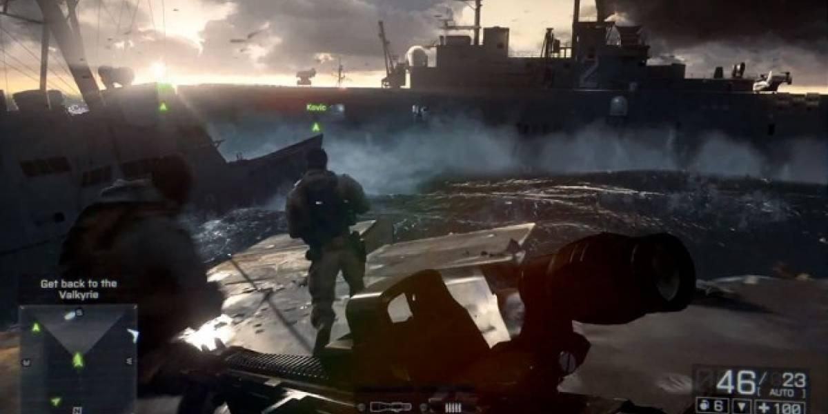 Mira la batalla naval de Battlefield 4 a 60fps #E3