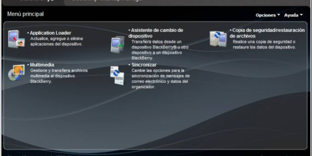 BlackBerry Desktop Manager 4.7 disponible para descarga