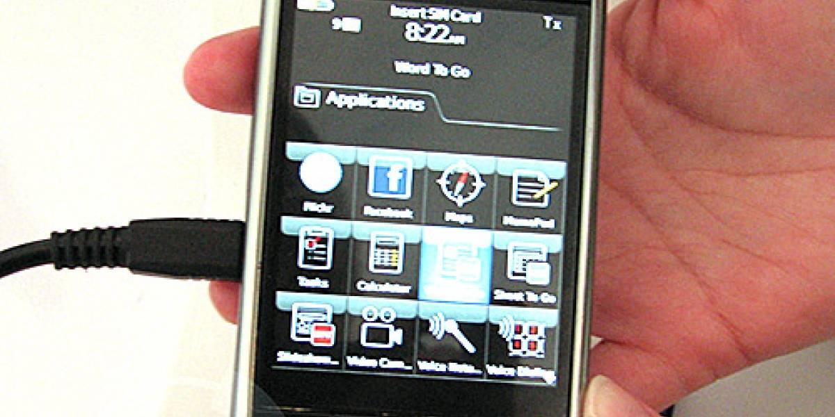 Sesión fotográfica de la Blackberry Storm