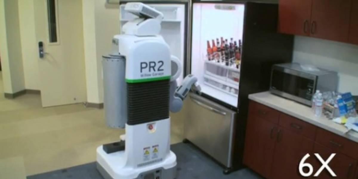 El robot PR2 aprende a sacar cervezas del refrigerador