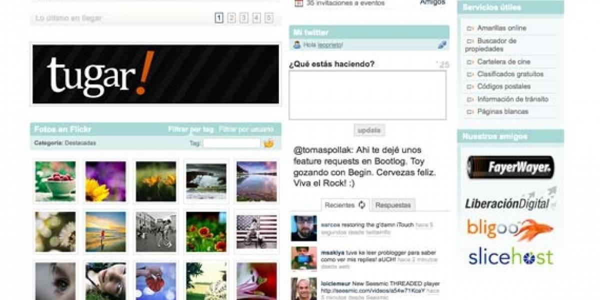 Begin 5: Gmail, Twitter, Facebook, Flickr, YouTube y tus blogs favoritos... en una página