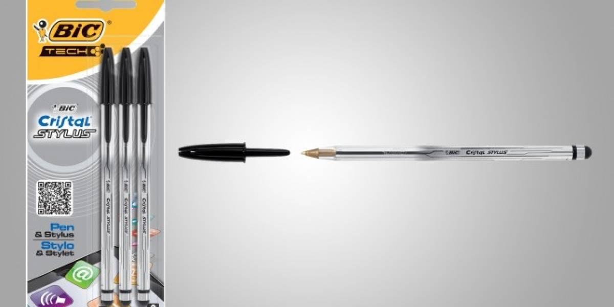 El famoso bolígrafo de cristal Bic evoluciona integrando Stylus para smartphones y tablets