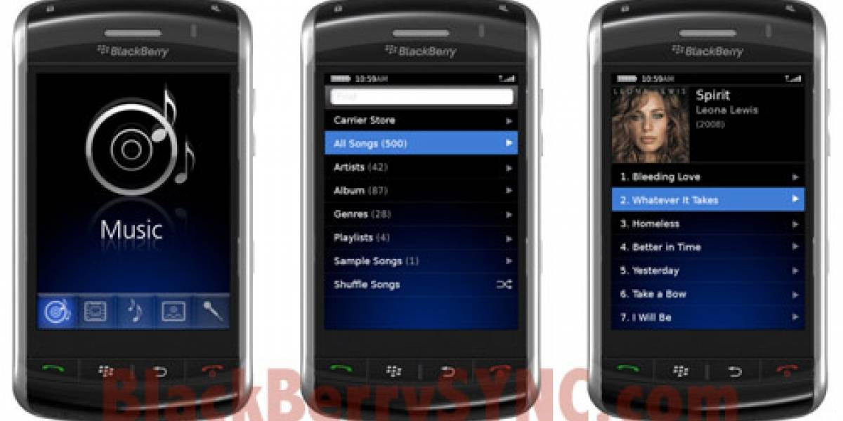 Se filtran imágenes de la BlackBerry Thunder
