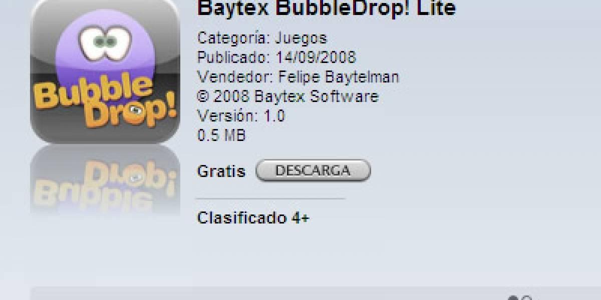 micro-Review: Bubble Drop un juego para iPhone creado por un Chileno