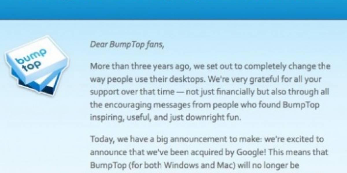 Google adquiere interfaz 3D BumpTop