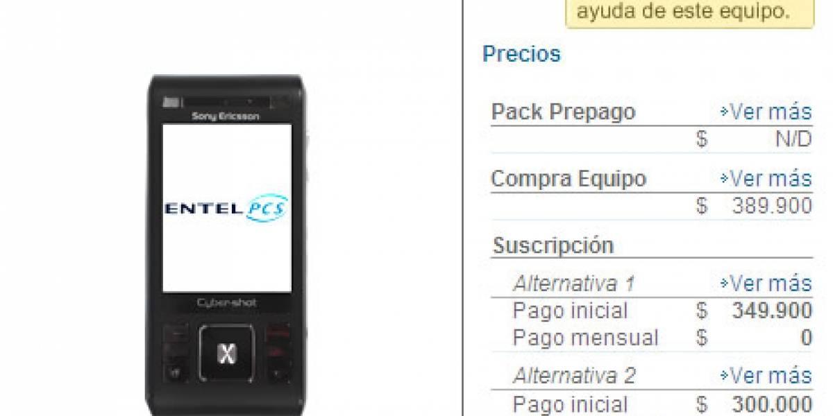 Sony Ericsson C905 también a Entel PCS