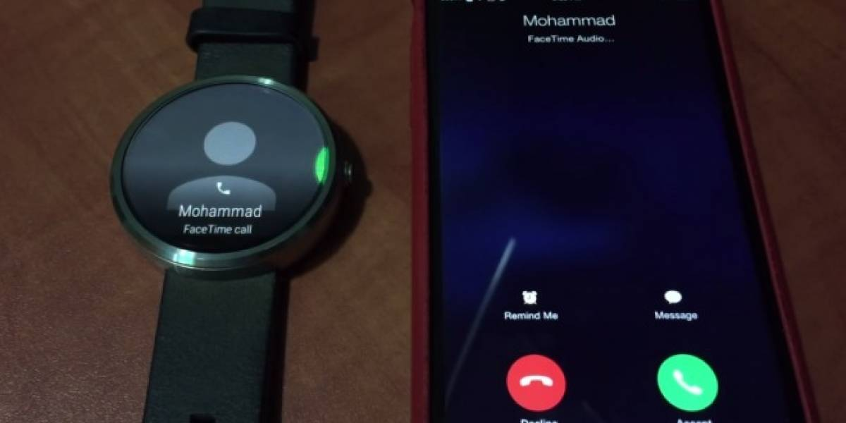 Aparece video de un Android Wear mostrando una llamada recibida de un iPhone