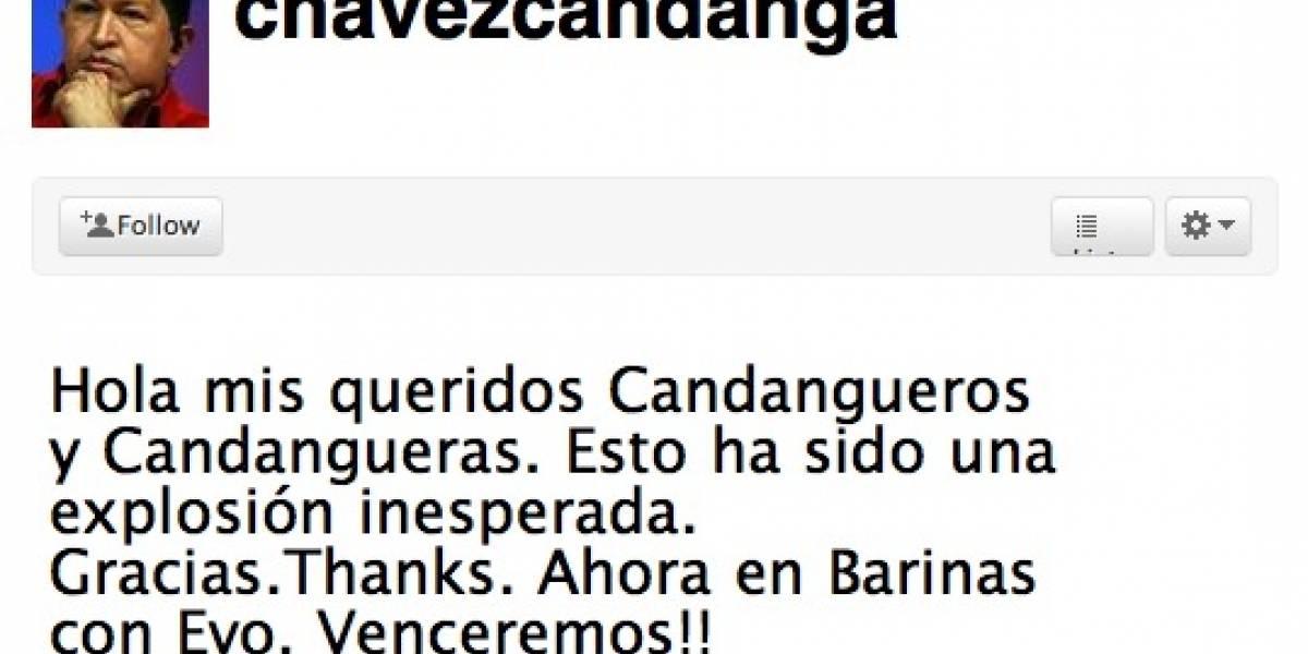 Hugo Chávez se une a Twitter finalmente