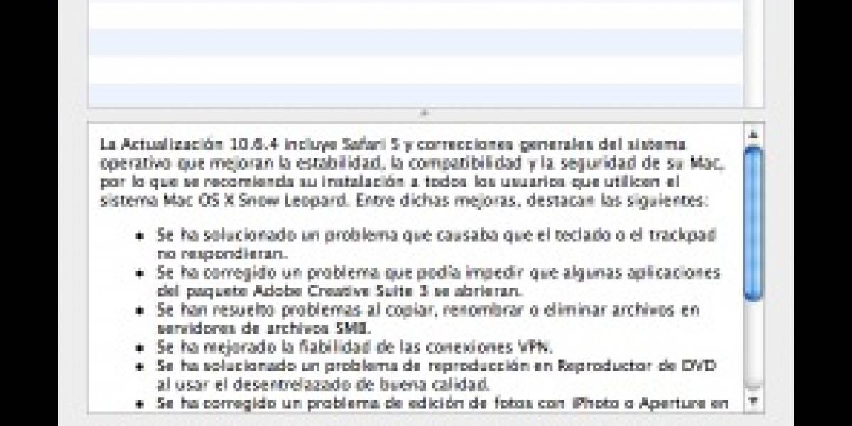 Mac OS X 10.6.4 disponible