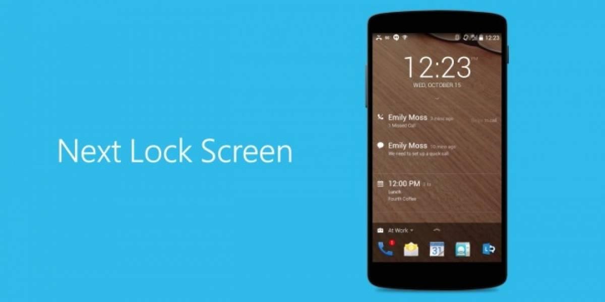 Microsoft presenta su nueva pantalla de bloqueo Next para Android