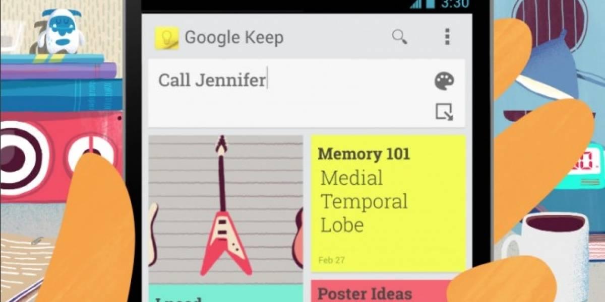 Google Keep se actualiza permitiendo compartir tus propias notas