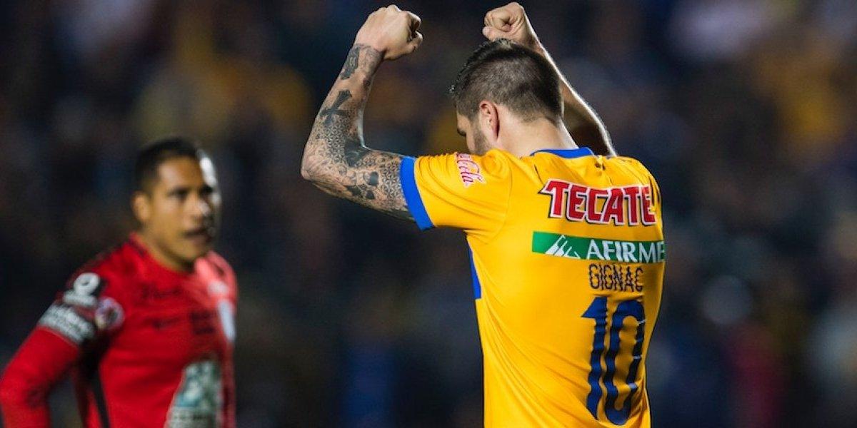 Gignac rescata la victoria de Tigres sobre Pachuca
