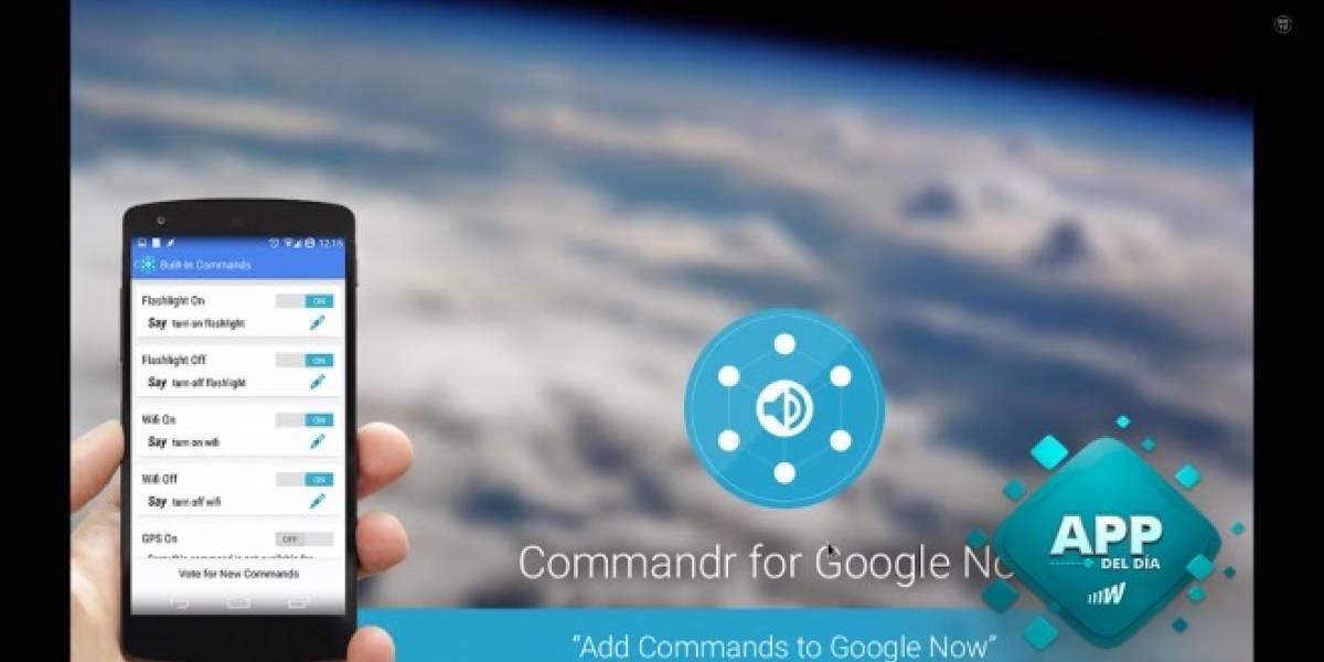 Utiliza más comandos en Google Now con Commandr