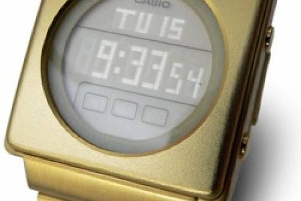 bf4292ab31b5 Nuevo retro reloj Casio LA-2002G  El pasado del futuro