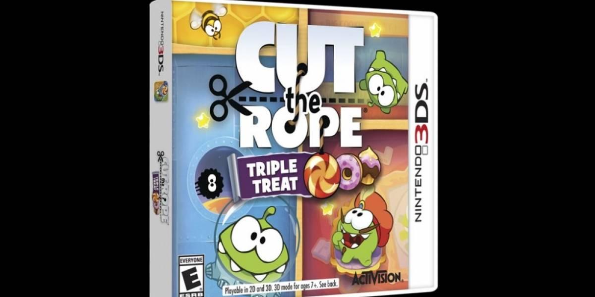 Cut the Rope: Triple Treat aterriza en la 3DS