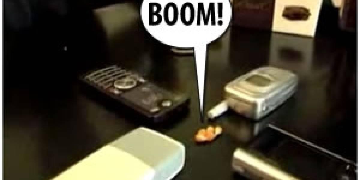 Cuatro móviles + granos de Maíz = ¡Palomitas llamando!