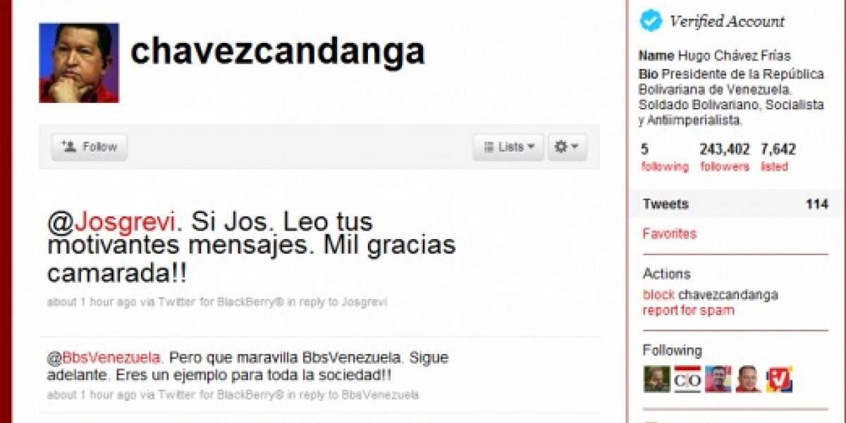 Hugo Chávez contrata a 200 personas para que mantengan su Twitter