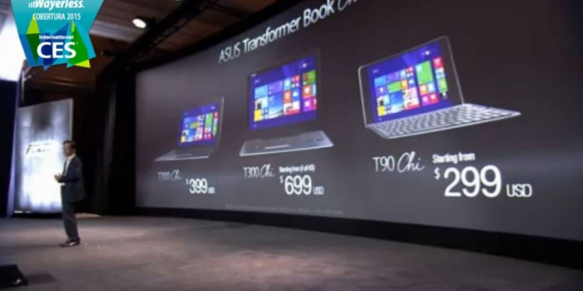ASUS presenta a sus nuevas tablets Transformer Book Chi con Windows 8.1 #CES2015