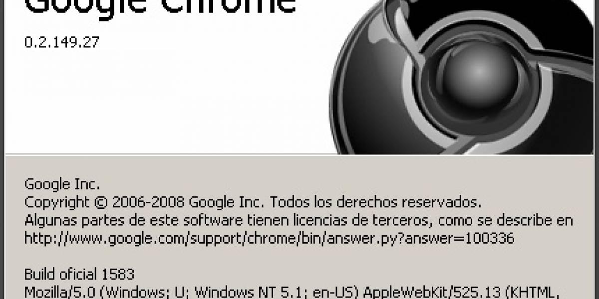 Google nos avisa de una actualización de Chrome que no se puede descargar