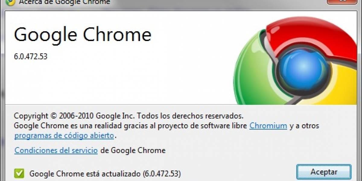 Google libera Chrome 6 final y el navegador cumple dos años