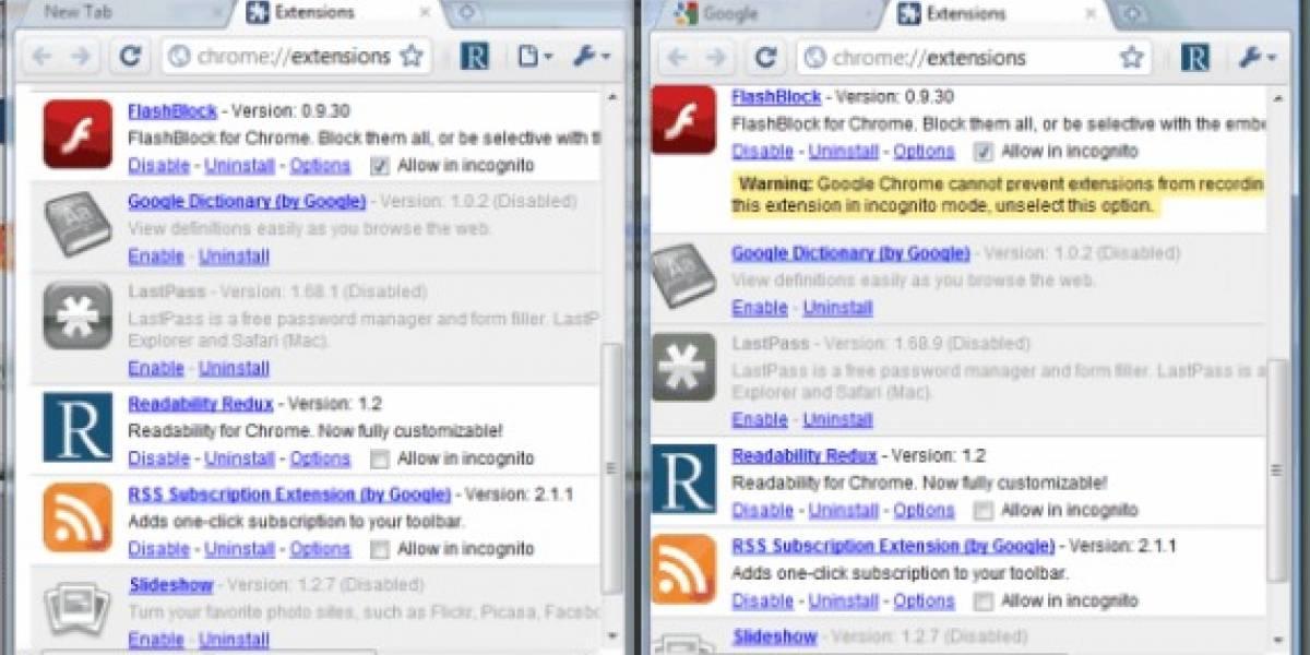 Chrome permitirá sincronizar las extensiones