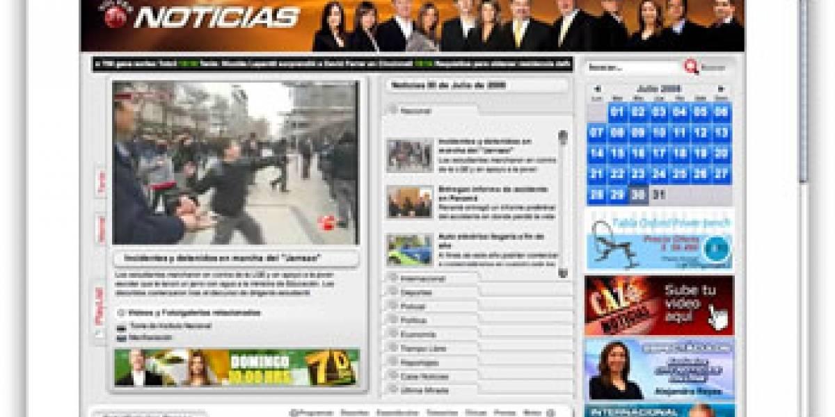 Chilevisión sube sus noticiarios íntegros a Internet
