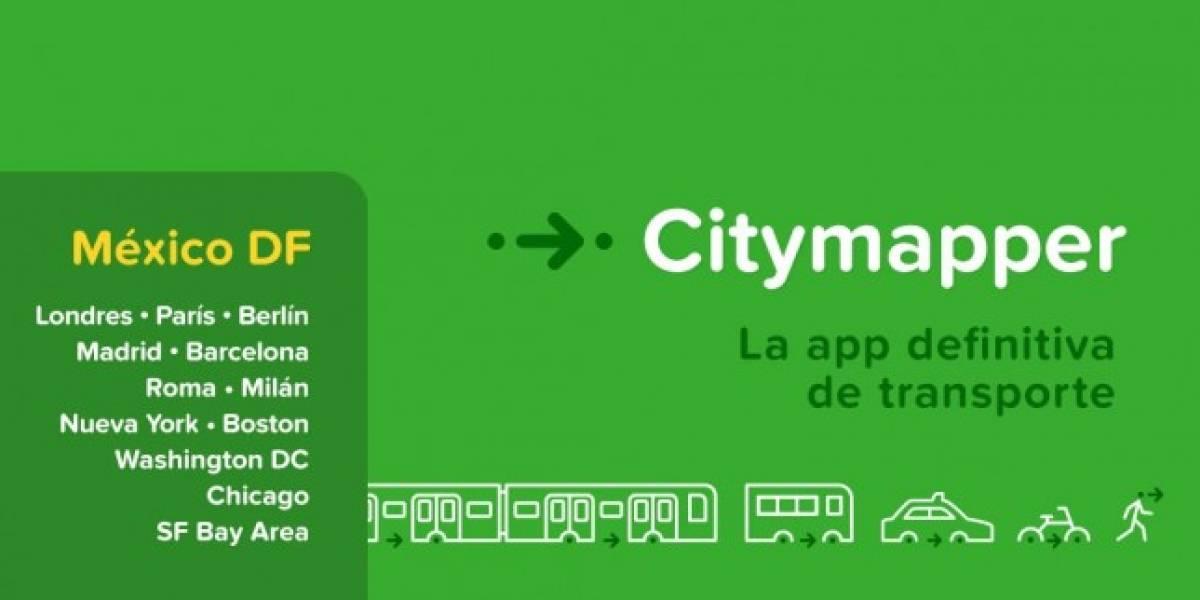 Citymapper añade la Ciudad de México a su aplicación de iOS y Android