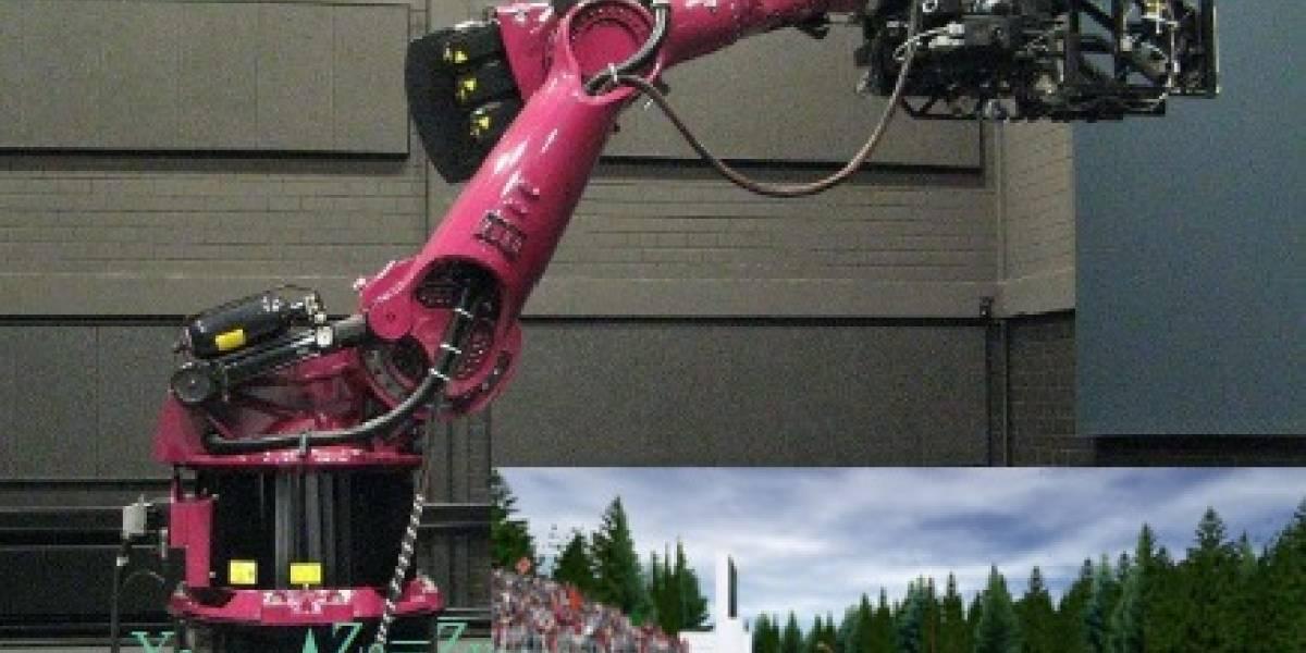 Brazo robótico simula el movimiento de un Ferrari
