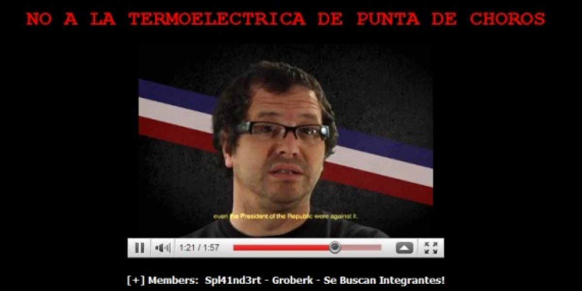 Chile: Hackean sitio de Conama en protesta por termoeléctrica