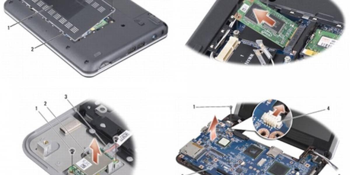Dell Mini 9 disectado, varias posibilidades para ampliarlo