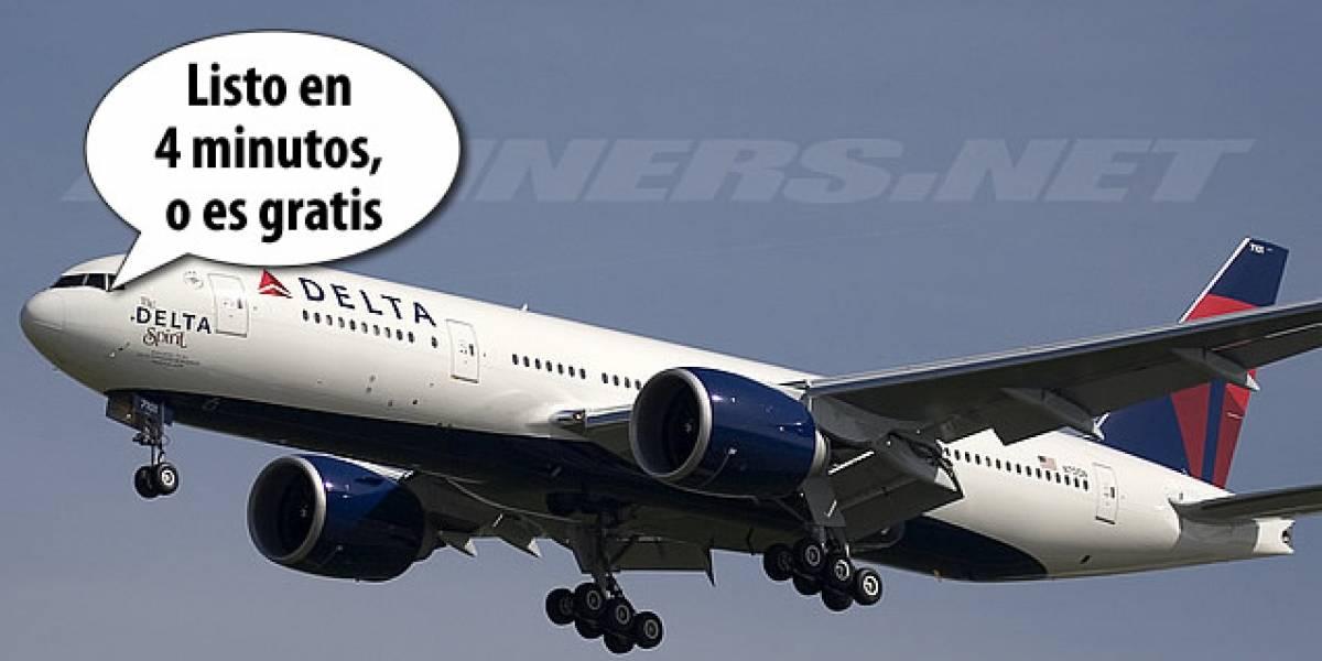 Un Boeing 777 listo para volar en 4 minutos