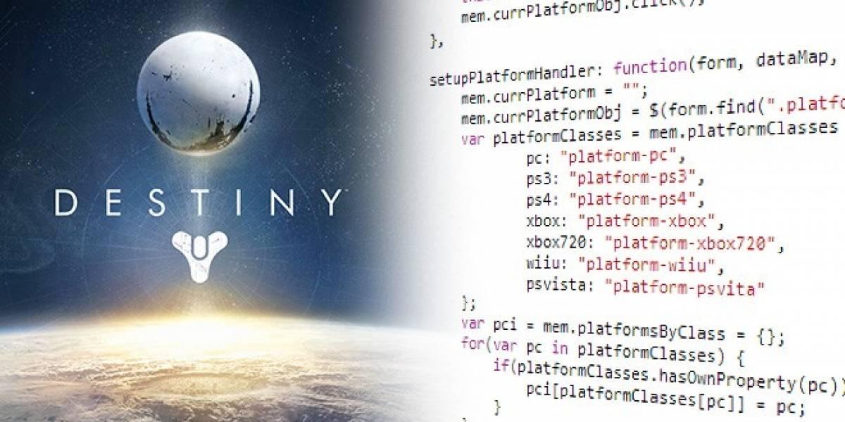 Palabras y códigos muestran que Destiny también llegaría a PC, PlayStation 4, Wii U, PlayStation Vita y Xbox 720
