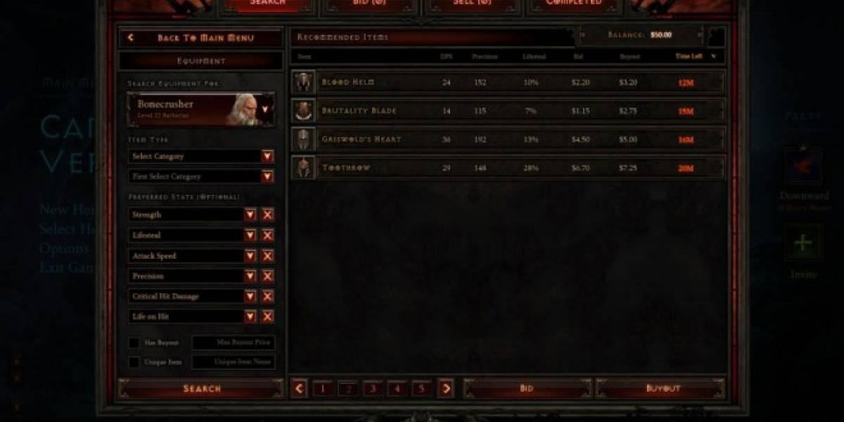 La Casa de Subastas de Diablo III sigue desconectada a causa del bug que duplica el oro