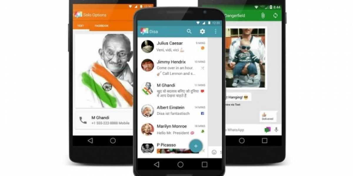 Disa unifica tus conversaciones de WhatsApp, Facebook y SMS