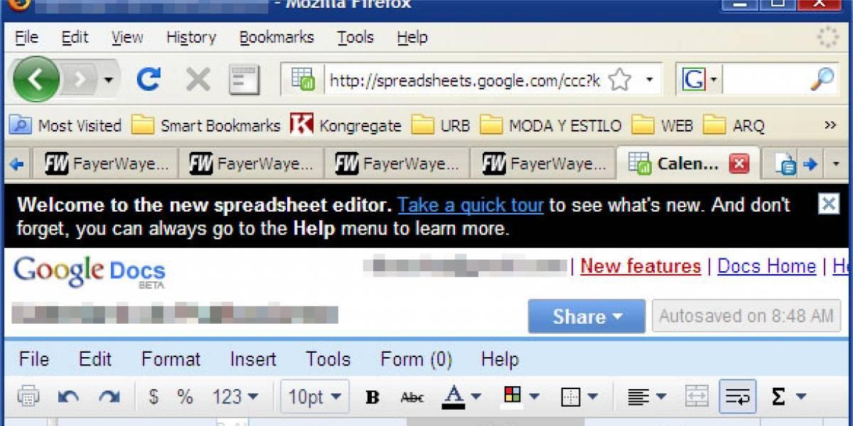 Google Docs retoca sus hojas de cálculo