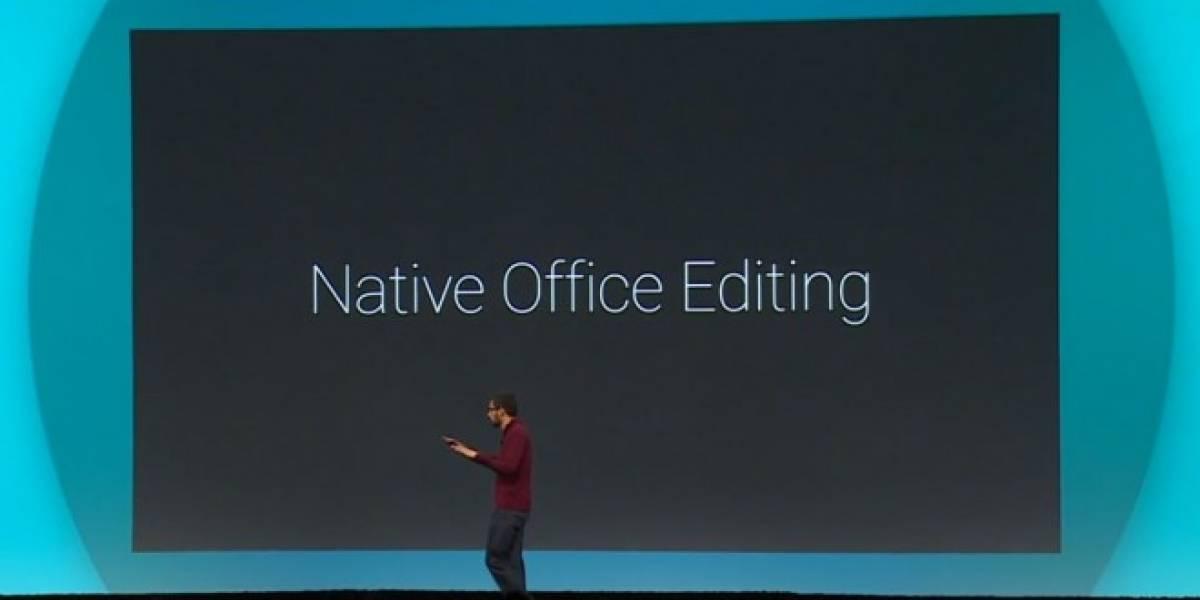Slides para Android y edición nativa de Office son lo nuevo de Google Docs #IO14