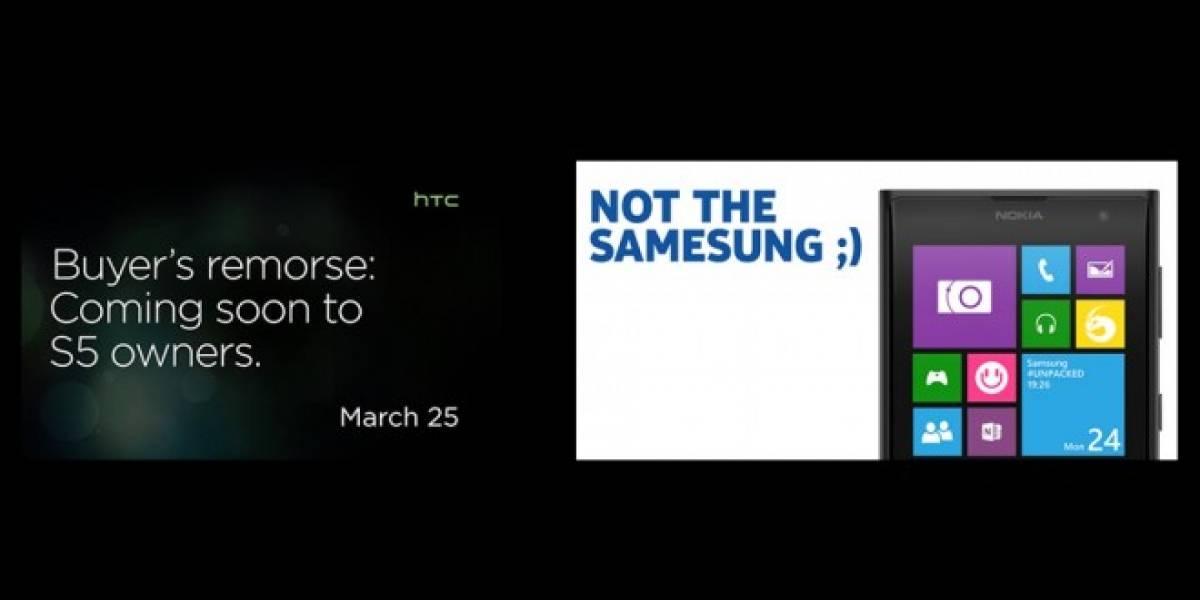 Las reacciones de Nokia y HTC en Twitter tras el lanzamiento del Galaxy S5