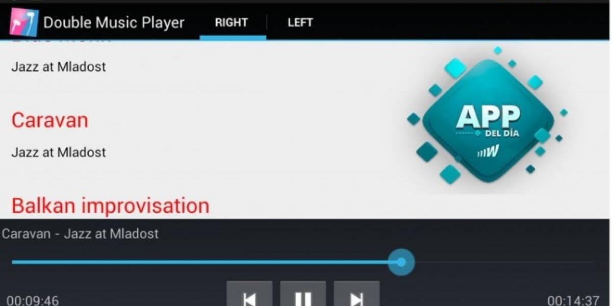 Double Music Player, comparte un audífono con tu amigo y escuchan una canción distinta