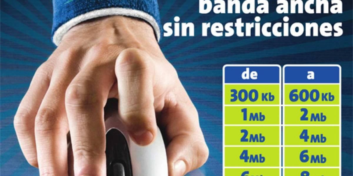 Telefónica también aumentará sus planes de Internet Banda Ancha 2.0