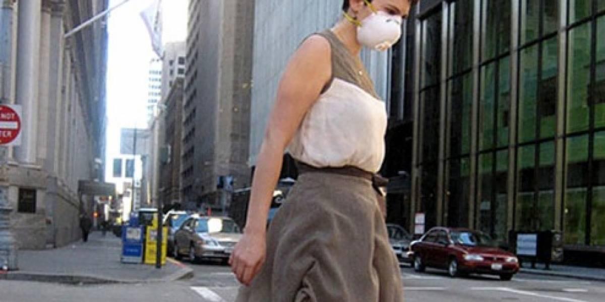 Vestido que se arruga con el smog