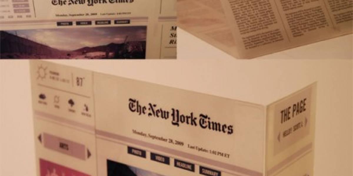 Así podrían ser los periódicos e-ink del futuro[Concepto]