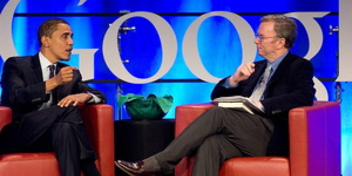 CEO de Google ama a Obama