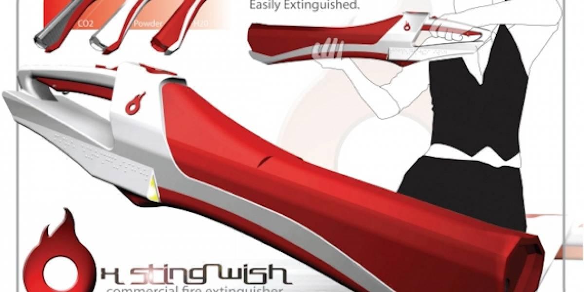 X Sting Wish, extintores futuristas y entretenidos