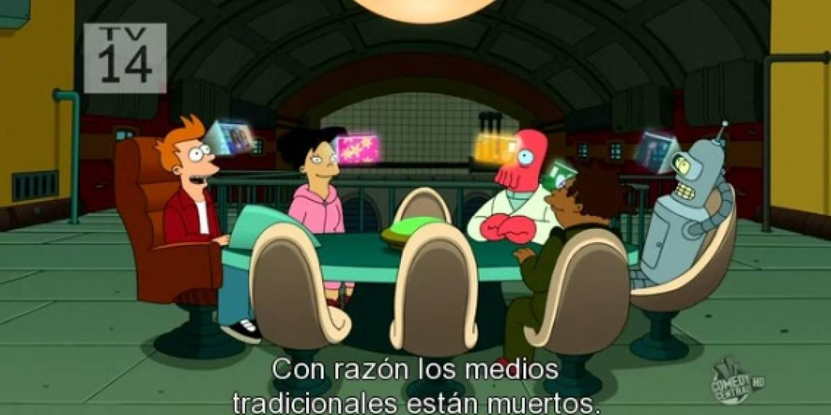eyePhone: Futurama hace burla del iPhone y Twitter