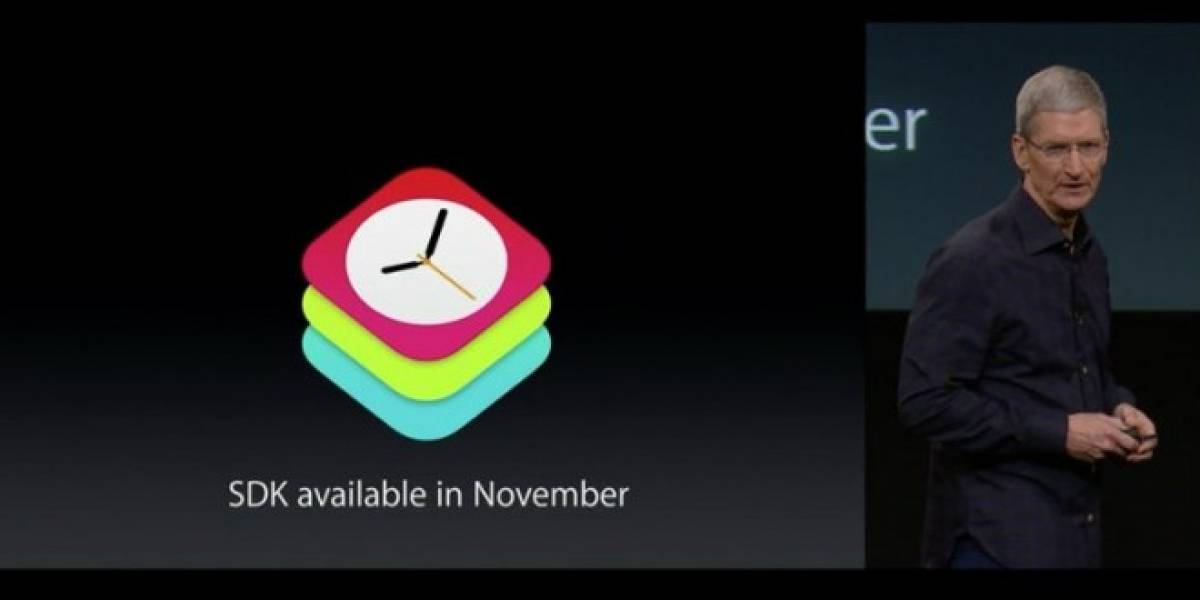 SDK para Apple Watch estará disponible en noviembre
