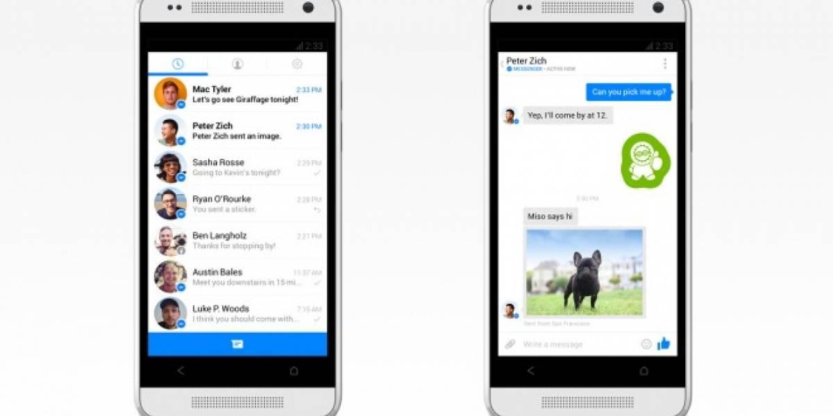 Facebook Messenger supera los 500 millones de descargas en Android